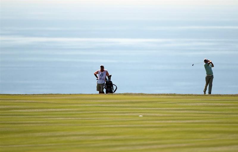 CASARES, SPAIN - MAY 21:  Noh Seung-yul of Korea in action during his last 16 match at the Volvo World Match Play Championship at Finca Cortesin on May 21, 2011 in Casares, Spain.  (Photo by Andrew Redington/Getty Images)