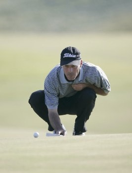 David Branshaw on the 14th hole during the final round of the Nationwide Tour Championship held  on the Senator course at Capitol Hill GC in Prattville, Alabama on Sunday, October 30, 2005.Photo by Sam Greenwood/WireImage.com