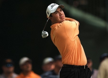 Arron Oberholser hits from the third tee during the second round of the 2005 Bank of America Colonial at Colonial Country Club in Forth Worth, Texas May 20, 2005.Photo by Steve Grayson/WireImage.com