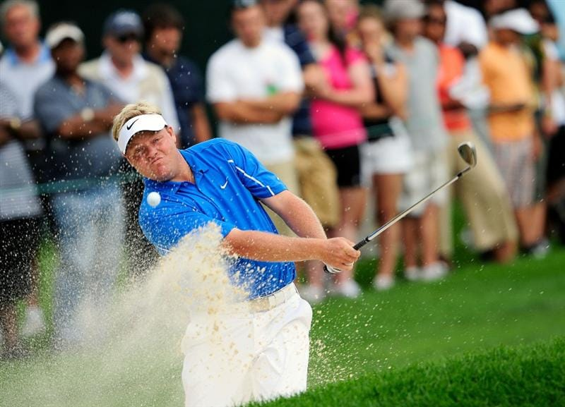 AKRON, OH - AUGUST 06:  Carl Pettersson of Sweden plays a shot on the 15th hole during the first round of the WGC-Bridgestone Invitational on the South Course at Firestone Country Club on August 6, 2009 in Akron, Ohio.  (Photo by Sam Greenwood/Getty Images)