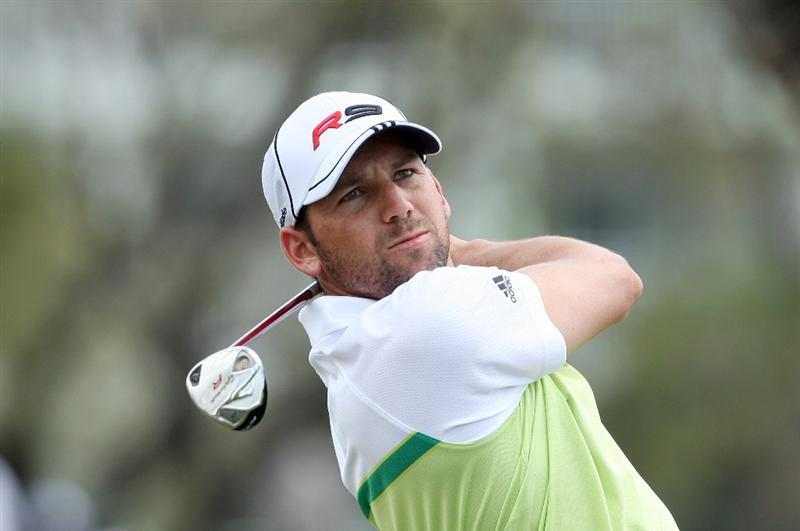 DORAL, FL - MARCH 13:  Sergio Garcia of Spain plays his tee shot at the 14th hole during the second round of the World Golf Championships-CA Championship at the Doral Golf Resort & Spa on March 13, 2009 in Miami, Florida  (Photo by David Cannon/Getty Images)