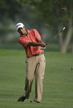 Arjun Atwal hits his approach on #15 in the third round of the 2005 B.C. Open at En-Joi Golf Club in Endicott, New York. Saturday, July 16 2005.Photo by Chris Condon/PGA TOUR/WireImage.com