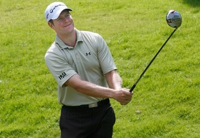 Justin Bolli drives during the third round of the Xerox Classic held at Irondequoit Country Club in Rochester, New York on August 18, 2007. Nationwide Tour - 2007 Xerox Classic - Third RoundPhoto by Jim Rogash/WireImage.com