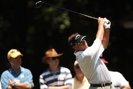 Brandt Jobe hits from the sixth tee during the final round of the 2005 Bank of America Colonial at Colonial Country Club in Forth Worth, Texas May 22, 2005.Photo by Steve Grayson/WireImage.com