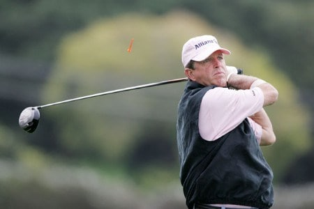 Dana Quigley in action during the final round of the 2005 Wal-Mart First Tee Open at Pebble Beach Golf Links, on September 4,2005. The event is being held at Pebble Beach Golf Links & Del Monte G.C., Pebble Beach, Ca. Hale Irwin shot -13 under for the win.  It's his third win of the 2005 season.Photo by Stan Badz/PGA TOUR/WireImage.com