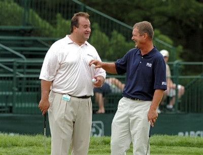 Jim McGovern (right) during the Pro-Am prior to the 2006 Barclays Classic at the Westchester Country Club in Rye, New York on June 5, 2006.Photo by Al Messerschmidt/WireImage.com