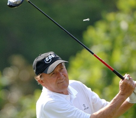 Raymond Floyd drives from the ninth tee  during the second round of  the 2005 Bruno's Memorial Classic, May 21, in Hoover, Al.Photo by Al Messerschmidt/WireImage.com