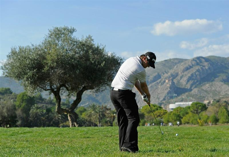 CASTELLON DE LA PLANA, SPAIN - OCTOBER 24:  Gary Boyd of England plays his approach shot on the 13th hole during the final round of the Castello Masters Costa Azahar at the Club de Campo del Mediterraneo on October 24, 2010 in Castellon de la Plana, Spain.  (Photo by Stuart Franklin/Getty Images)