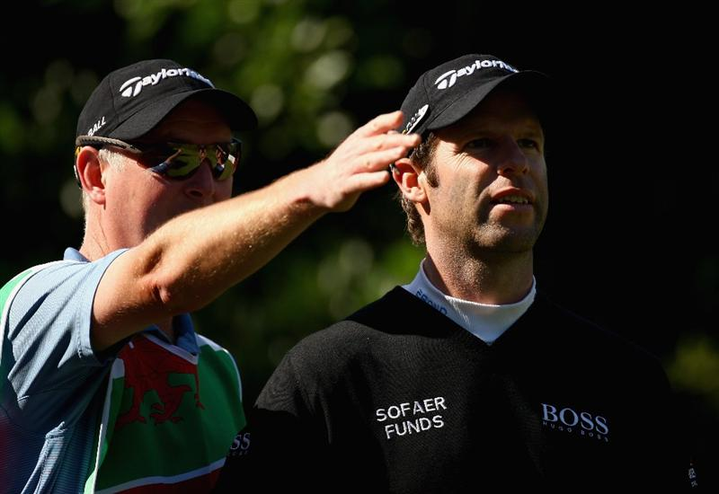SHENZHEN, CHINA - NOVEMBER 28:  Bradley Dredge of Wales looks on during round two of the Omega Mission Hills World Cup at the Mission Hills Resort on November 28, 2008 in Shenzhen, China.  (Photo by Ian Walton/Getty Images)