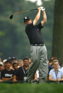 Shaun Micheel during the third round of the 88th PGA Championship at Medinah Country Club in Medinah, Illinois, on August 19, 2006.Photo by Mike Ehrmann/WireImage.com