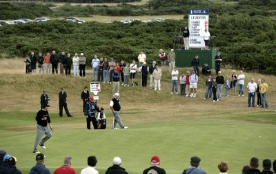 Loren Roberts (USA) on the 12th green during the final round of the 2006 Senior British Open at the Westin Turnberry resort in Ayrshire, Scotland on July 30, 2006.Photo by Matthew Harris/WireImage.com