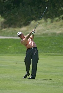 Stephen Leaney during the third round of the John Deere Classic at TPC at Deere Run in Silvis, Illinois on July 15, 2006.