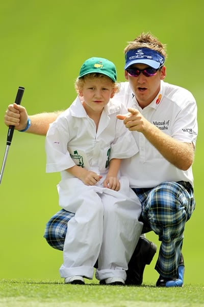 Ian Poulter and son Luke