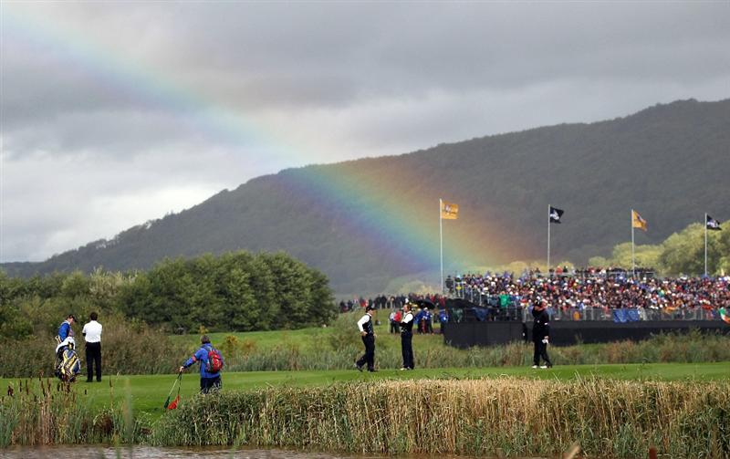 NEWPORT, WALES - OCTOBER 03:  General view during the  Fourball & Foursome Matches during the 2010 Ryder Cup at the Celtic Manor Resort on October 3, 2010 in Newport, Wales.  (Photo by Jamie Squire/Getty Images)