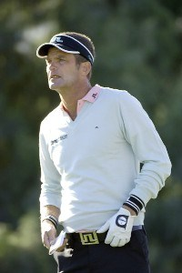 Jesper Parnevik on the par three third hole during the second round of the Bob Hope Chrysler Classic at La Quinta Country Club on Thursday, January 19, 2006 in La Quinta, CaliforniaPhoto by Marc Feldman/WireImage.com