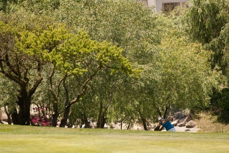MORELIA, MEXICO - MAY 2: Brittany Lincicome plays a shot from under a tree on the fifth hole during the fourth round of the Tres Marias Championship at the Tres Marias Country Club on May 2, 2010 in Morelia, Mexico. (Photo by Darren Carroll/Getty Images)