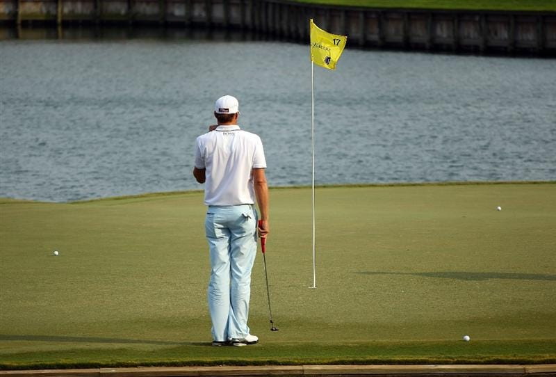 PONTE VEDRA BEACH, FL - MAY 13:  Nick Watney waits on the 17th hole during the second round of THE PLAYERS Championship held at THE PLAYERS Stadium course at TPC Sawgrass on May 13, 2011 in Ponte Vedra Beach, Florida.  (Photo by Scott Halleran/Getty Images)