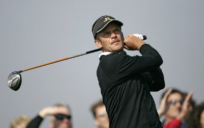 Jesper Parnevik during the third round of the  AT&T Pebble Beach National Pro-Am on Pebble Beach Golf Links  in Pebble Beach, California on February 11, 2006.
