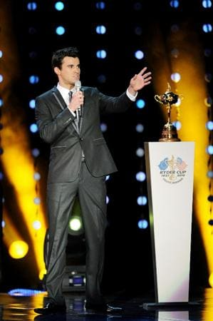 CARDIFF, WALES - SEPTEMBER 29:  Host Steve Jones speaks onstage during Welcome To Wales at Millennium Stadium on September 29, 2010 in Cardiff, Wales.  (Photo by Eamonn McCormack/Getty Images)