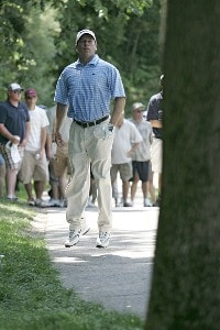 John Huston during the third round of the John Deere Classic at TPC at Deere Run in Silvis, Illinois on July 15, 2006.Photo by Michael Cohen/WireImage.com