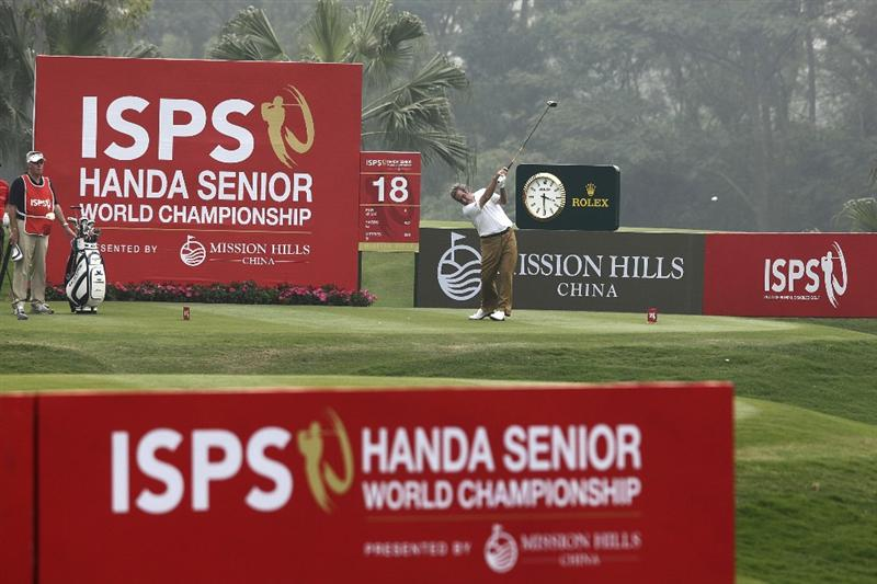 SHENZHEN, CHINA - MARCH 12:  Sam Torrance of Scotland in action during the second round of the ISPS Handa Senior World Championship presented by Mission Hills China and played on the World Cup Course, Mission Hills on March 12, 2011 in Shenzhen, Guangdong.  (Photo by Phil Inglis/Getty Images)