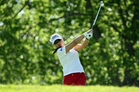 EDINAH, MN - JUNE 24:  Jeong Jang of South Korea tees off from the 4th tee during practice for the 2008 US Womens Open Championship held at The Interlachen Country Club, on June 24, 2008 in Edinah, Minnesota.  (Photo by David Cannon/Getty Images)