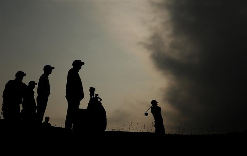 NEWPORT, WALES - JUNE 05:  Corey Pavin of the USA tee's off at the 12th as clouds start to roll across the skies during the second round of the Celtic Manor Wales Open on the 2010 Course at The Celtic Manor Resort on June 5, 2009 in Newport, Wales.  (Photo by Richard Heathcote/Getty Images)