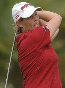 Wendy Ward in action in the final round of the inaugural 2006 Fields Open in Hawaii at Ko Olina Golf Club in Kapolei, Hawaii February 25, 2006.Photo by Steve Grayson/WireImage.com