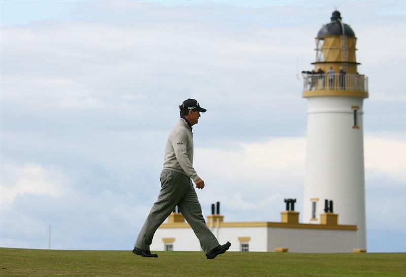 TURNBERRY, SCOTLAND - JULY 17:  Tom Watson of USA walks past the lighthouse during round two of the 138th Open Championship on the Ailsa Course, Turnberry Golf Club on July 17, 2009 in Turnberry, Scotland.  (Photo by Warren Little/Getty Images)