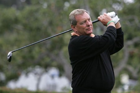 Fuzzy Zoeller in action during the second round of the 2005 Wal-Mart First Tee Open at Pebble Beach Golf Links, on September 3,2005. The event is being held at Pebble Beach Golf Links & Del Monte G.C., Pebble Beach, Ca.Photo by Stan Badz/PGA TOUR/WireImage.com