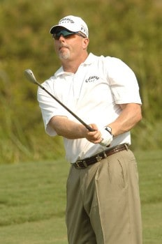 Dennis Paulson hits from the 8th fairway during the first round of the 2005 Valero Texas Open at La Cantera in at La Cantera Country Club in San Antonio, Texas September 22, 2005.Photo by Steve Grayson/WireImage.com
