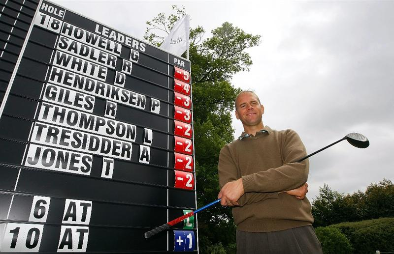 BRADFORD ON AVON, ENGLAND - MAY 19: Graham Howell of Ferndown Forest poses after taking a lead during the Business Fort plc English PGA Championship Regional Qualifier at Cumberwell Park Golf Club on May 19, 2010 in Bradford on Avon, England. (Photo by Tom Dulat/Getty Images)
