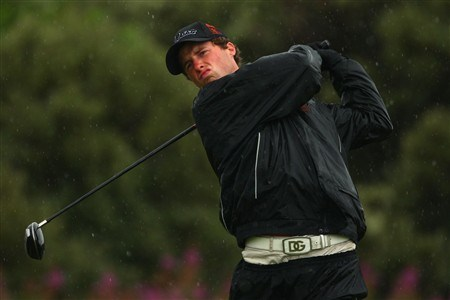 SOUTHPORT, UNITED KINGDOM - JULY 17:  Amateur Reinier Saxton of The Netherlands tees off on the 2nd hole during the First Round of the 137th Open Championship on July 17, 2008 at Royal Birkdale Golf Club, Southport, England.  (Photo by Richard Heathcote/Getty Images)