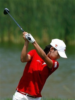 MORELIA, MEXICO - APRIL 12:  Na Yeon Choi of South Korea tees off the 11th hole during the third round of the Corona Championship at Tres Marias Club de Golf April 12, 2008 in Morelia, Michoacan, Mexico.  (Photo by Kevin C. Cox/Getty Images)