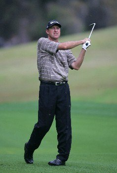 Steve Jones during the second round of THE PLAYERS Championship at the Tournament Players Club at Sawgrass in Ponte Vedra Beach, Florida on March 26, 2005.