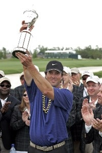 Chris Couch after winning the Zurich Classic of New Orleans at the English Turn Golf & Country Club in New Orleans, Louisiana on April 30, 2006.Photo by Gregory Shamus/WireImage.com