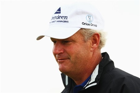 SOUTHPORT, UNITED KINGDOM - JULY 16:  Sandy Lyle of Scotland looks on during the third practice round of the 137th Open Championship on July 16, 2008 at Royal Birkdale Golf Club, Southport, England. (Photo by Richard Heathcote/Getty Images)