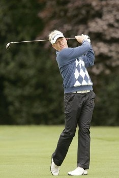 Peter Hedblom during the second round of the 2005 Smurfit European Open on the Palmer Course at the K Club in Straffan, Ireland on July 1, 2005.Photo by Pete Fontaine/WireImage.com
