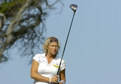 Nicole Perrot drives from the second tee during  the second round  at the 2006 SBS Open at Turtle Bay February 17 at Kahuku, Hawaii.Photo by Al Messerschmidt/WireImage.com