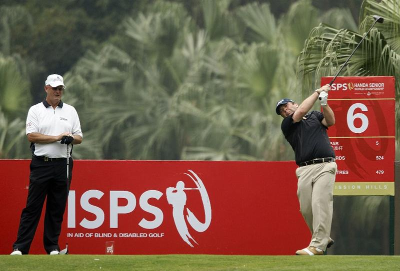 SHENZHEN, CHINA - MARCH 12:  Fraser Mann of Scotland in action during the second round of the ISPS Handa Senior World Championship presented by Mission Hills China and played on the World Cup Course, Mission Hills on March 12, 2011 in Shenzhen, Guangdong.  (Photo by Phil Inglis/Getty Images)