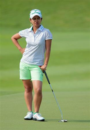 SINGAPORE - FEBRUARY 25:  Ai Miyazato of Japan waits on the 14th green during the second round of the HSBC Women's Champions 2011 at the Tanah Merah Country Club on February 25, 2011 in Singapore, Singapore.  (Photo by Scott Halleran/Getty Images)