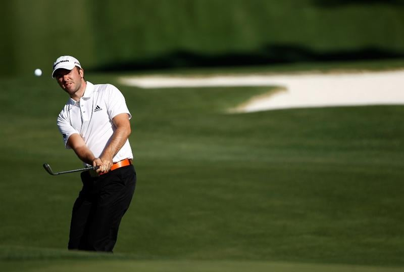 CHARLOTTE, NC - APRIL 29:  Martin Laird of Scotland hits his approach shot on the fifth hole during the first round of the 2010 Quail Hollow Championship at the Quail Hollow Club on April 29, 2010 in Charlotte, North Carolina.  (Photo by Scott Halleran/Getty Images)