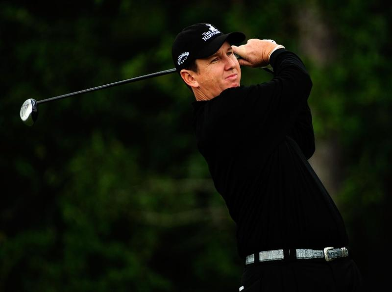 PALM COAST, FL - OCTOBER 31:  J.J. Henry hits a shot on the 12th hole during the second round of the Ginn sur Mer Classic at the Conservatory Golf Club on October 31, 2008 in Palm Coast, Florida.  (Photo by Sam Greenwood/Getty Images)