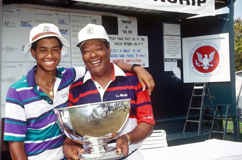 Tiger Woods and father Earl