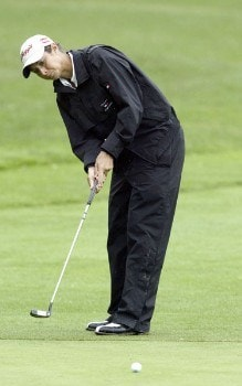 Laura Diaz makes a putt during the first round of the 2005 Wegman's Rochester LPGA at Locust Hill Country Club in  Pittsford, New York on June 16, 2005.Photo by Michael Cohen/WireImage.com