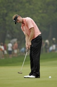 Vaughn Taylor during the second round of the 88th PGA Championship at Medinah Country Club in Medinah, Illinois, on August 18, 2006.Photo by Hunter Martin/WireImage.com