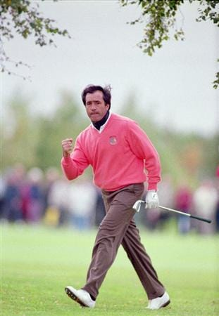 26 Sep 1993:  Seve Ballesteros of the European team in action during the Saturday morning foursomes of the Ryder Cup at the Belfry in Sutton Coldfield in England. \ Mandatory Credit: Chris Cole /Allsport