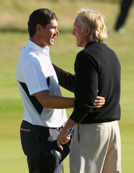 Greg Norman and Padraig Harrington
