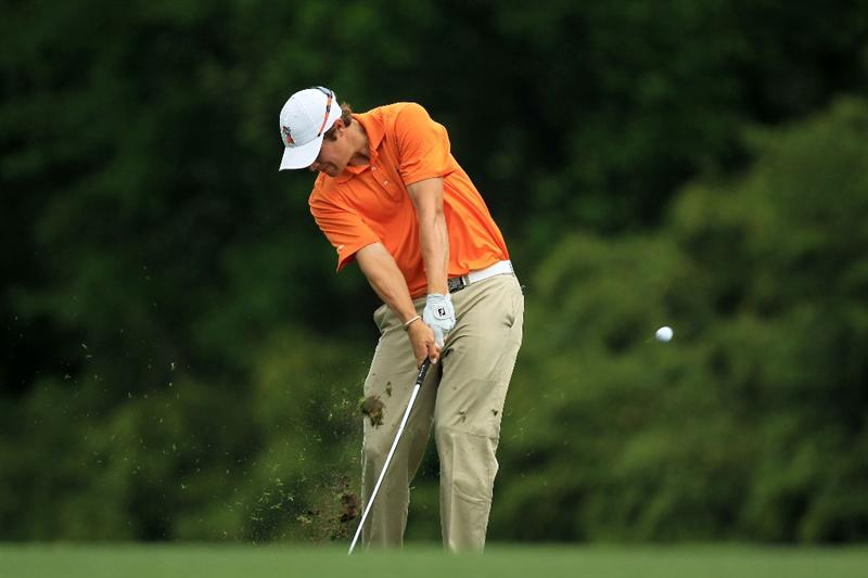 AUGUSTA, GA - APRIL 08:  Amateur Peter Uihlein hits his second shot on the fifth hole during the second round of the 2011 Masters Tournament at Augusta National Golf Club on April 8, 2011 in Augusta, Georgia.  (Photo by David Cannon/Getty Images)