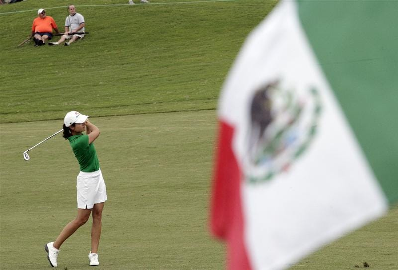 PRATTVILLE, AL - OCTOBER 4:  Lorena Ochoa of Mexico hits to the first green during final round play in the Navistar LPGA Classic at the Robert Trent Jones Golf Trail at Capitol Hill on October 4, 2009 in  Prattville, Alabama.  (Photo by Dave Martin/Getty Images)
